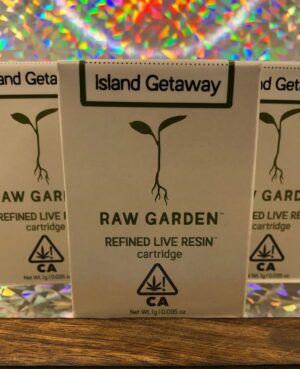 raw garden refined live resin cartridge
